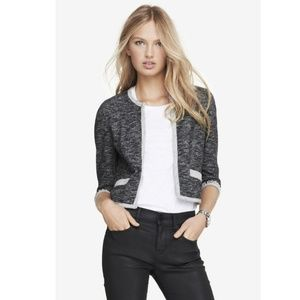 Express Cardigan Jeweled Embellished French Terry